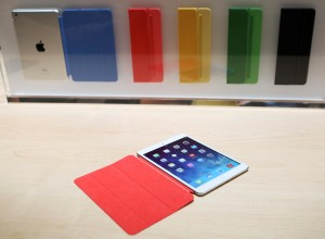 The new iPad Air is displayed during an Apple event in San Francisco
